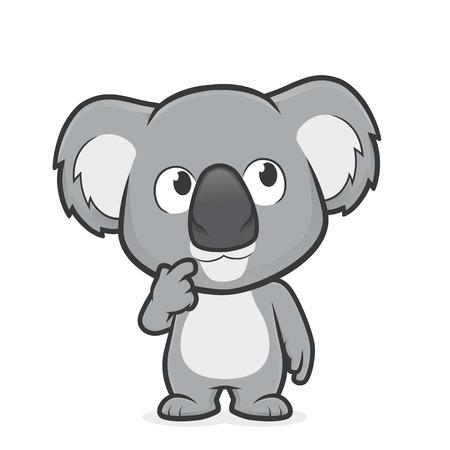 Cartoon illustration of Koala in thinking gesture Ilustrace