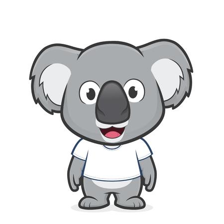 Koala wearing white t shirt