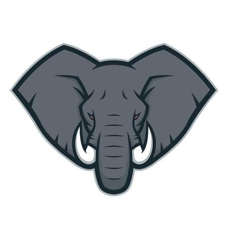 Elephant head mascot logo