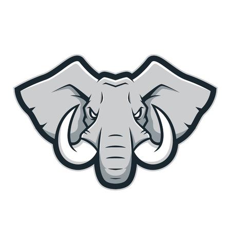 象頭のマスコットのロゴ 写真素材 - 88186557