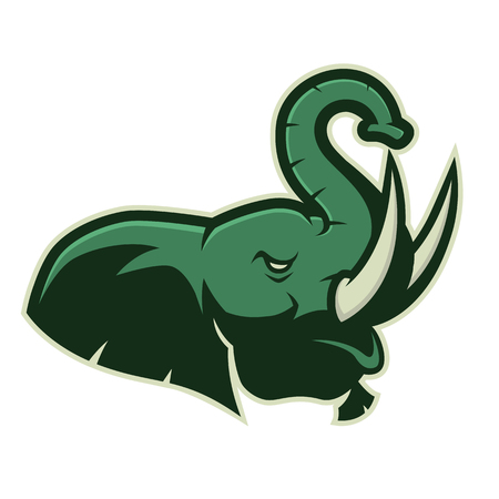 Elephant head mascot icon. Ilustrace