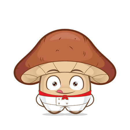 Clipart picture of a mushroom chef cartoon character