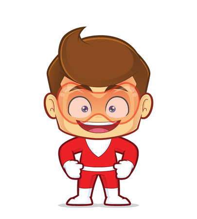Clipart picture of a smiling superhero cartoon character Ilustrace