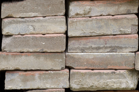 Abstract seamless pattern for designers with old bolder cement blocks in piles Stock Photo