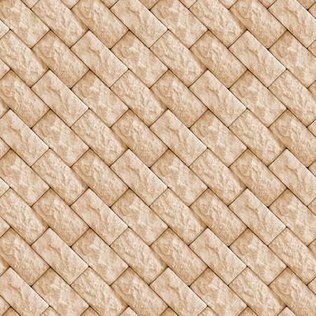 Seamless pattern with fragment of concrete wall from squared natural stone blocks Stock Photo