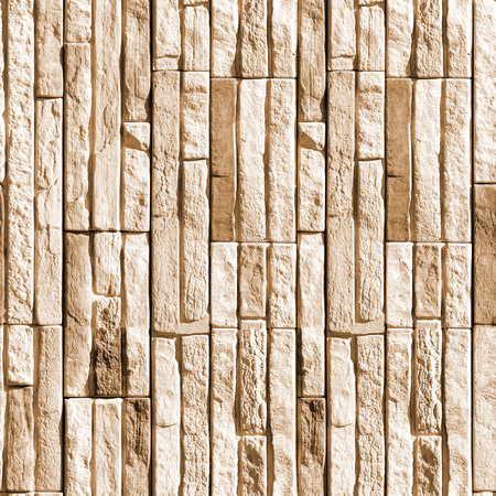 Seamless pattern with fragment of concrete wall from squared stone blocks