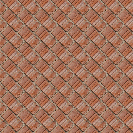Seamless pattern for artists or designers of red brick wall with fragment of ciment and little stones between tiles