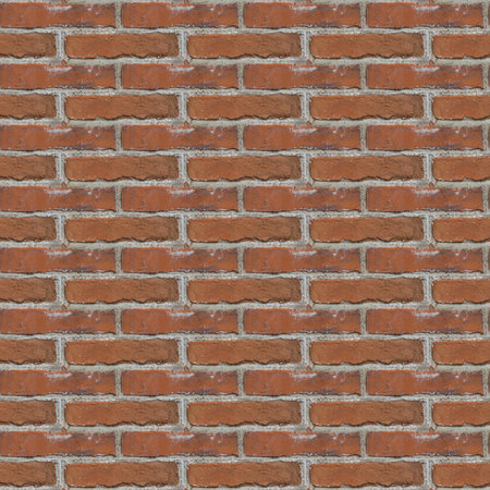 Seamless pattern with fragment of red bricks wall for design or matte painting Stock Photo