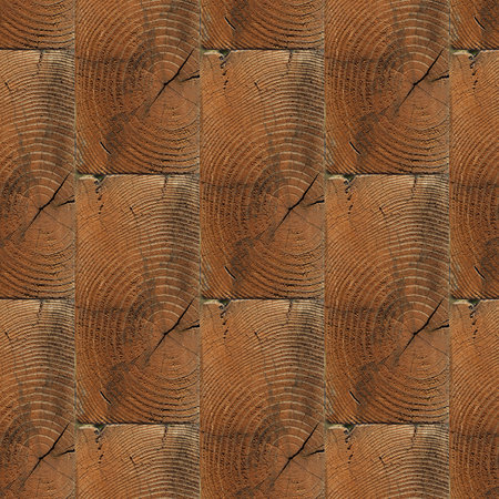 Abstract seamless pattern for designers of wooden bricks wall with knots and girdle Imagens
