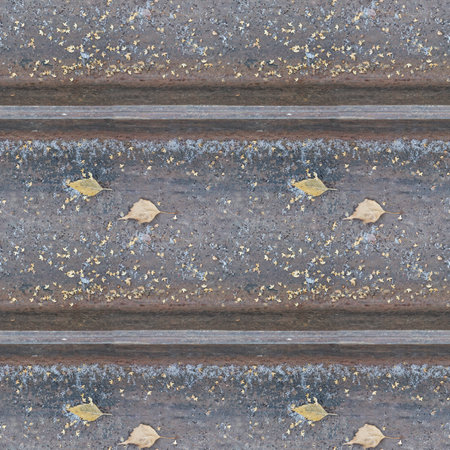 Abstract seamless pattern for designers with old rusty rails with snow Stock Photo