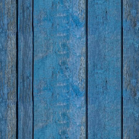 Abstract seamless texture for designers with old blue lumber decks. Fence or enclosure of country house.