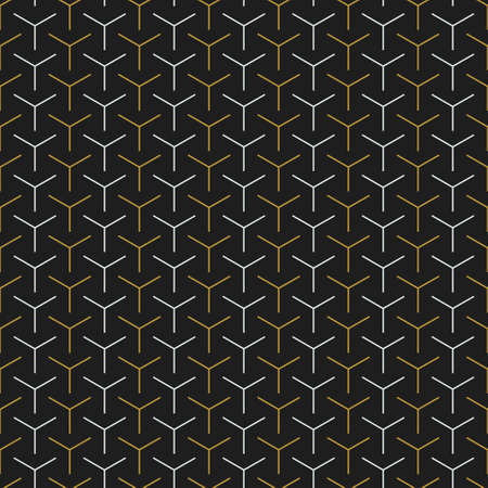 Modern 3 pointed line abstract pattern background. Vector illustration.