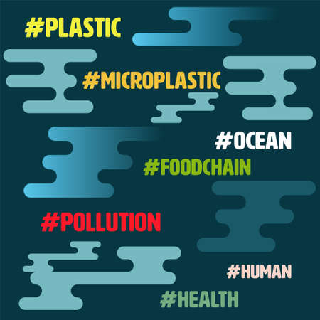 Hashtag environmental related topic on abstract modern background. Environmental concern concept. Vector illustration.