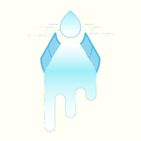 Water supply concept. Importance of water metaphor. Water delivery system. Symbol of piping, irrigation. Vector illustration outline flat design style. Illustration