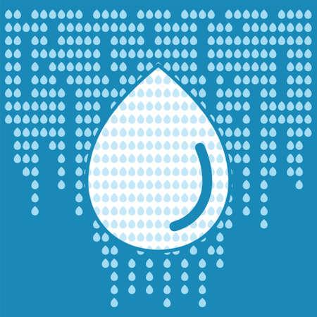 Water drop background in modern outline flat design. Element of design for company, website, business identity. Vector illustration.