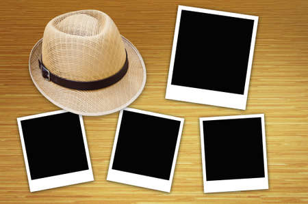 photo frame and the hat photo