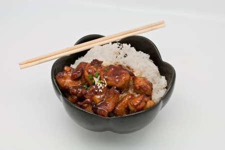 Teriyaki Chicken Rice Stock Photo - 9652039