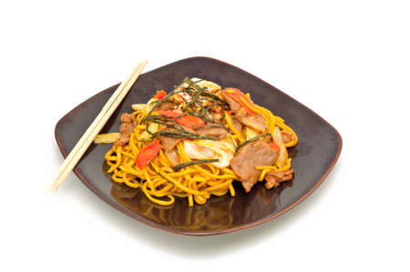 Stir-fried noodles photo