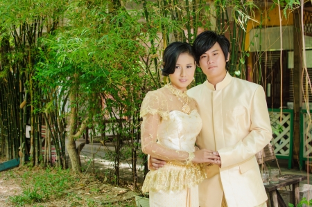 traditional: A traditional wedding dress, Thailand