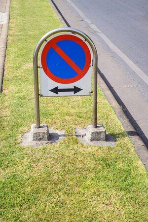 dont sign: Dont parking street sign