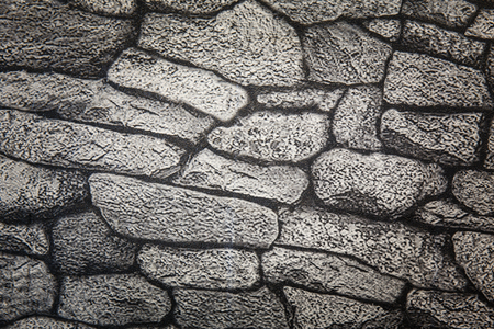 rattan: Background texture of stone wall paper Stock Photo