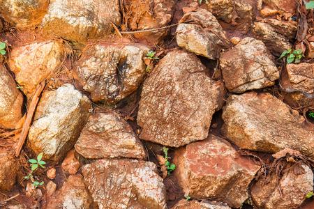 red sock Railway Tracks , stone background texture