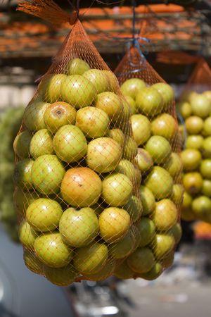 ber: Bags of Baer or Ber (Berries of Indian Jujube or Zizyphus) Stock Photo