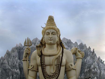 Statue of Lord Shiva near Kempfort, bangalore photo