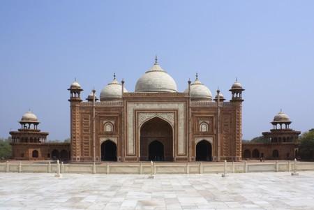 Mosque (masjid) at the Taj Mahal at Agra, India photo