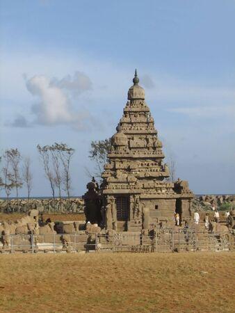 mamallapuram: Famous shore temple at Mamallapuram, India