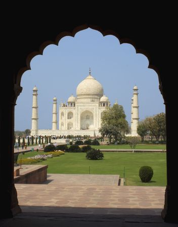 Taj Mahal at Agra, India Stock Photo - 4796625
