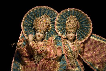 Idols of Lord Krishna and Radha