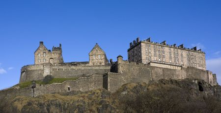 Panaromic view of the Edinburgh Castle, Scotland photo