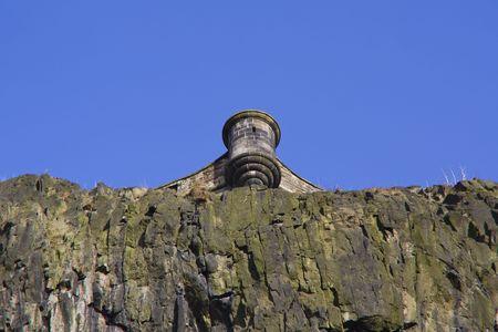 View of a Turret, Edinburgh Castle, Scotland photo