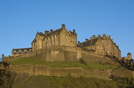 Panoramic view of the Edinburgh Castle, Scotland photo