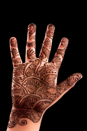 mehandi: Mehndi  Henna  on a small girl
