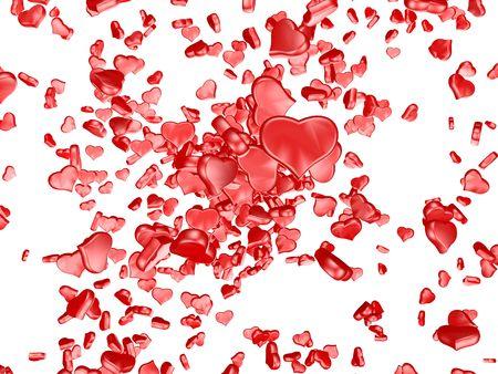 curare teneramente: Un cuore rosso su sfondo bianco