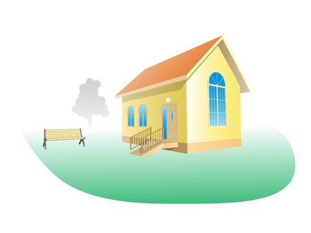 Vector Illustration of small house. Please see some similar pictures from my portfolio: Stock Vector - 2550614