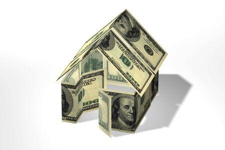 概念的な 3 D レンダリング ドルの家
