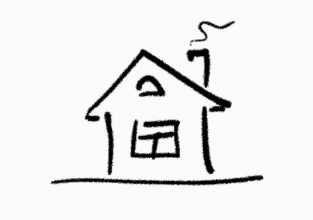 The line art image of small house