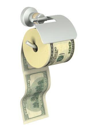 組織のためのホルダーで固定ドルのロール 写真素材
