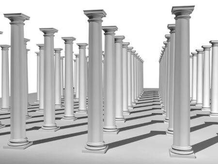 grecian: 3d rendered monochromic image of classic columns