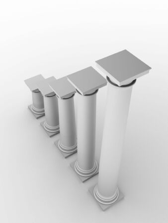 monochromic: 3d rendered monochromic image of classic columns