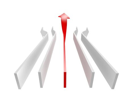 conceptual 3d rendered image of arrow isolated on white Stock Photo - 6572302