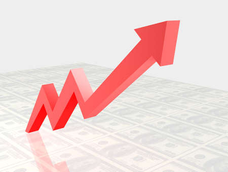 Business Graph, 3d rendered conceptual arrow chart Stock Photo - 6799300