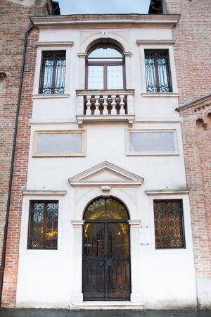 facade of classical Italian church