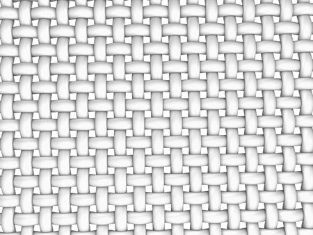 3D rendered illustration of interlaced fiber on white background Stock Photo
