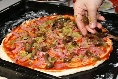 Handmade fresh fire baked pizza Stock Photo - 3228388