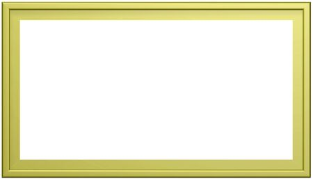 olive green: Empty Empty olive green photo frame isolated on pure white background. 3D rendered