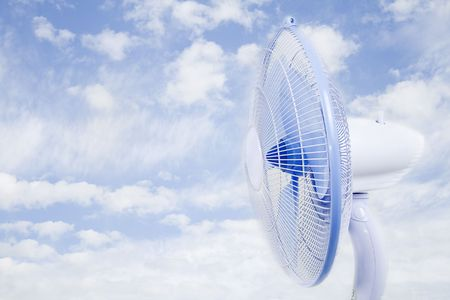 Cloudy sky fan. The purpose of the cool air.